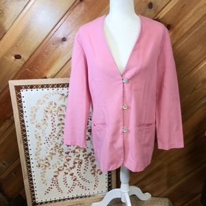 Jaclyn Smith Pink Blazer Mother of Pearl Size 12